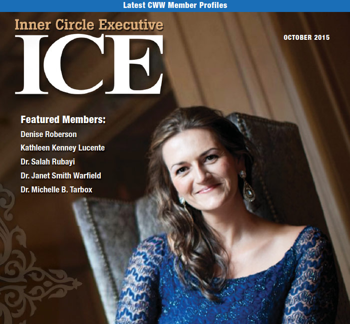 ICE Sylvaine Hughson Cover Article October 2015